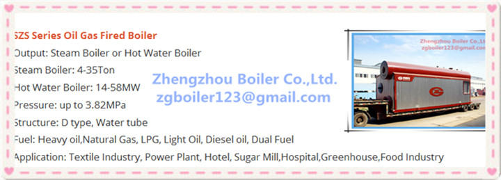 water tube gas oil boiler